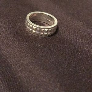 Tiffany & Co faceted band ring
